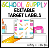 EDITABLE Target Labels: School