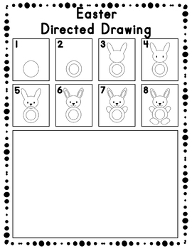 Easter Directed Drawing Activity for Including Art in any Subject