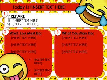 Emoji EDITABLE PowerPoint Templates Morning Work