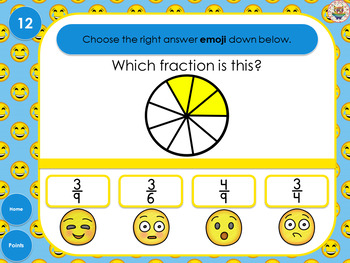 Emoji Fraction Review PowerPoint Game