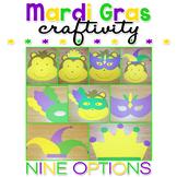 Mardi Gras Paper Craft Craftivity
