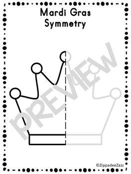 Mardi Gras Symmetry Drawing Activity for Art and Math