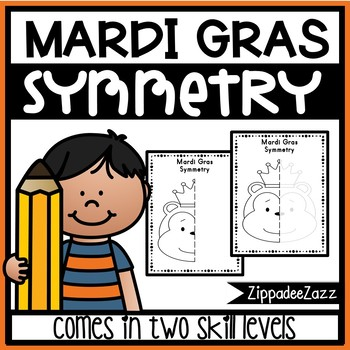 Mardi Gras Symmetry Activity Worksheets