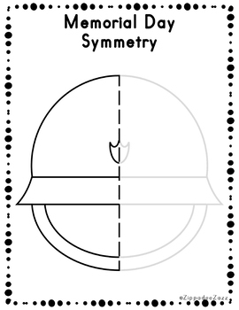 Memorial Day Symmetry Activity Worksheets