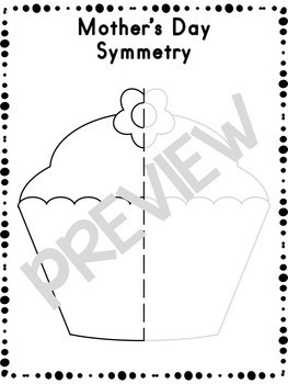 Mother's Day Symmetry Activity Worksheets