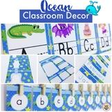 Ocean Classroom Decor Pack EDITABLE