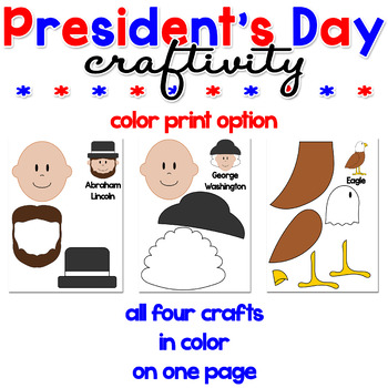 President's Day Paper Craft Craftivity