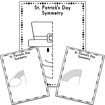 St. Patrick's Day Symmetry Drawing Activity for Art and Math