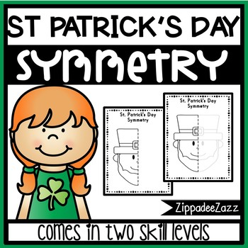 St. Patrick's Day Symmetry Activity Worksheets