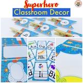 Superhero Classroom Decor Pack EDITABLE