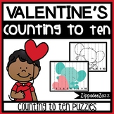 Valentine's Counting to 10 Puzzles