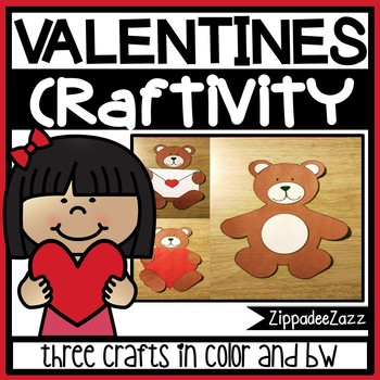 Valentine's Day Bears Paper Craft Craftivity