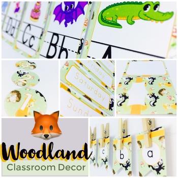 Woodland Classroom Decor Pack EDITABLE