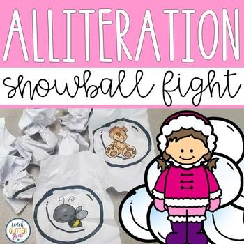 Beginning Sound/Alliteration Snowball Fight Activity