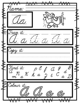 Worksheets for Cursive Handwriting Practice
