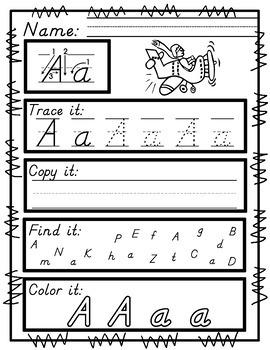 Worksheets for D'Nealian Handwriting Practice
