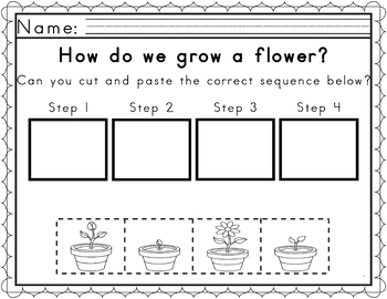 Worksheets for Sequencing in Spring