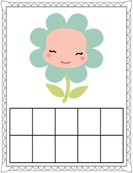 Ten Frame Mats for Spring Counting