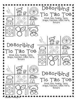 No Prep Language Tic Tac Toe