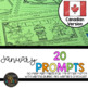 Canadian January Writing Prompts & Word Work