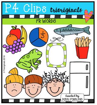 FR Words (P4 Clips Trioriginals Digital Clip Art)