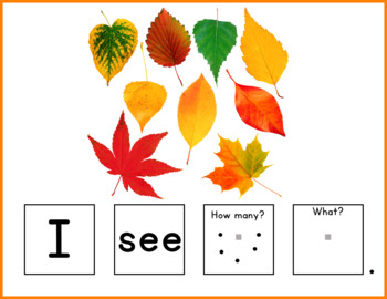 Fall Build a Sentence for Speech Therapy and Special Ed
