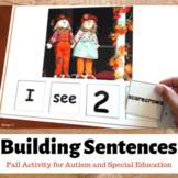 Fall Activity for Speech Therapy - Building Sentences