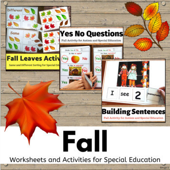 Fall Bundle- Vocabulary Cards, Activities, Worksheets
