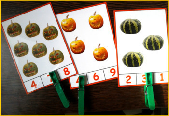 Clip Cards - Counting Pumpkins