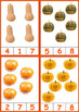 Pumpkins Counting Clip Cards for Fall