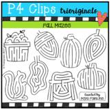 Fall MAZES (P4 Clips Trioriginals Clip Art)
