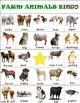 Farm Animals & Their Babies Bingo