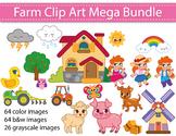 Farm Clipart Bundle, Farm Animals Clip Art