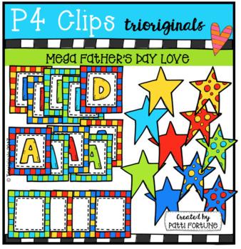 Father's Day LOVE (P4 Clips Trioriginals ClipArt)