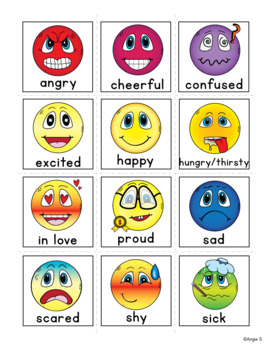 Feelings and Emotions - Autism Communication Cards, Visual Aids, Pecs