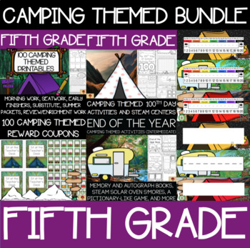Fifth Grade Camping Supplies Bundle