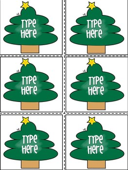 Editable Christmas Labels.Editable Christmas Labels Christmas Tree Gift Tags