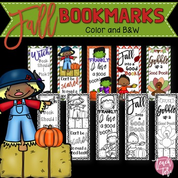 Fall Activities: Bookmarks in Color and B&W