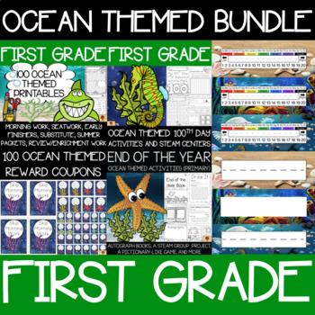 First Grade Ocean Supplies Bundle