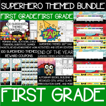First Grade Superhero Supplies Bundle