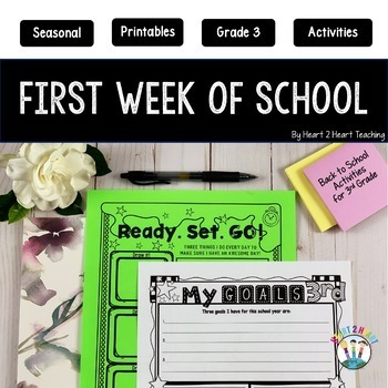 *50% OFF* First Week of School Activities for 3rd Grade