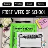 First Week of School Activities for 3rd Grade