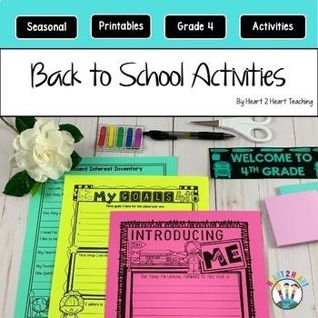 First Week of School Activities for 4th Grade