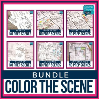 #Mar2018slpmusthave No Prep Articulation and Language Scenes Bundle