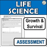 Environmental Conditions Science Assessment and EDITABLE Rubric.