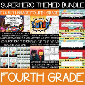Fourth Grade Superhero Supplies Bundle