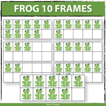 Frog 10 Frames Clip Art