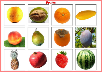 Fruits Matching File Folders