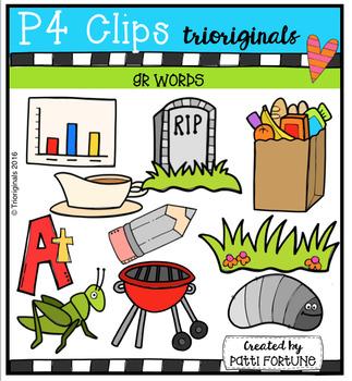 GR Words (P4 Clips Trioriginals Digital Clip Art)