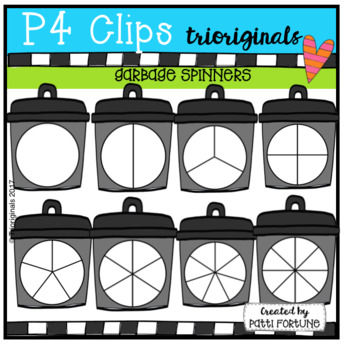 Garbage Can Spinners (P4 Clips Trioriginals Clip Art)